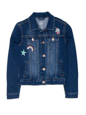 Denim Jacket with Patches (Little Girls, Big Girls & Big Girls Plus)
