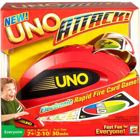 UNO ATTACK! Rapid Fire Card Game for 2-10 Players Ages (Fire Car Games)