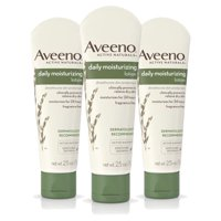 (3 Pack) Aveeno Daily Moisturizing Lotion with Oat for Dry Skin, 2.5 fl. oz