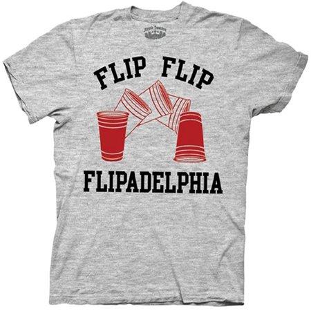 It's Always Sunny In Philadelphia Flip Cup Flipadelphia Heather Gray T-shirt