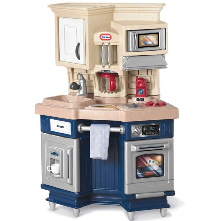 Little Tikes Super Chef Kitchen with 13-piece Accessory Set - Cooking Set For Kids