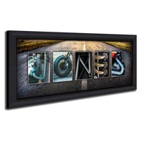 Personalized Motorcycle Framed Canvas Wall Art, Live Preview, Choose Each Photo, Multiple Options