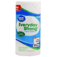Great Value Paper Towels, Split Sheets, 1 Mega Roll