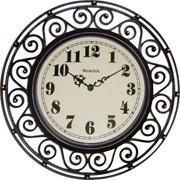 Westclox Wrought Iron Look Decor Wall Clock style# 32021A