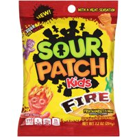 (3 Pack) Sour Patch Kids, Fire Soft & Chewy Candy, 7.2 Oz