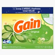 Gain Powder Laundry Detergent, Original Scent, 150 loads, 172oz
