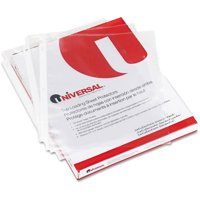 (2 Pack) Universal Top-Load Poly Sheet Protectors, Economy, Letter, 100/Box -UNV21130