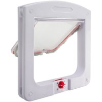 Dog Cat Flap Doors with 4 Way Lock for Pets Entry & Exit - Durable Model by Paws & Pals