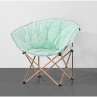 Mainstays Corduroy Club Chair w/ Rose Gold Legs, Multiple Colors