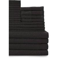 100% Cotton 24-Piece Cotton Bath Towel Set Collection