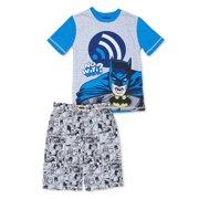 Boys  Batman 2 Piece Pajama Short Set (Little Boy ... 5d8c403fa