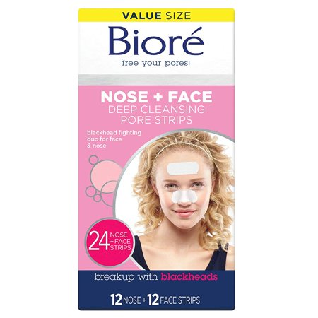Biore Deep Cleansing Pore Strips Combo Pack, 24