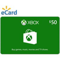 Xbox $50 Gift Card, Microsoft, [Digital Download]