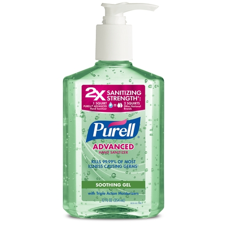 (3 pack) PURELL Advanced Hand Sanitizer Soothing Gel, Fresh Scent with Aloe and Vitamin E, 12 Oz