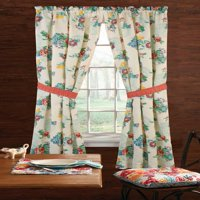 """The Pioneer Woman Country Garden Window Curtain Panel, 40""""W x 84""""L , Set of 2, Multiple Sizes"""