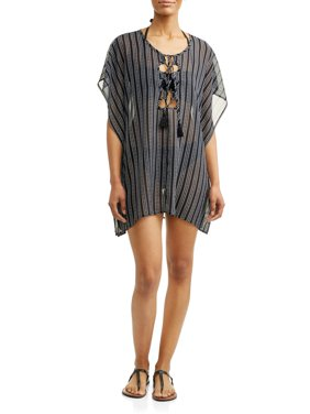 Women's Stripe Chiffon Cover-Up