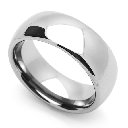 Men Women 8MM Comfort Fit Stainless Steel Wedding Band Classic Domed Ring (Size 5 to 15)