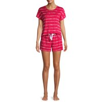 Deals on Secret Treasures Womens Shibori Stripe Pajama Set