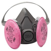 3M Medium Half Facepiece Respirator 6000 Series, Reusable