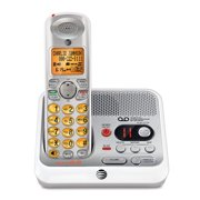 AT&T EL52110 Cordless Phone with Digital Answering Machine, Silver/White