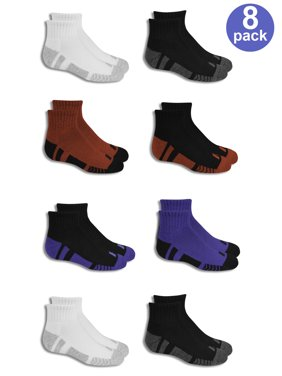 Performance Training Cushioned Ankle Socks, 8 Pairs (Little Boys & Big Boys)
