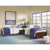 Hillsdale Pulse L-Shaped Twin Bed, Multiple Colors