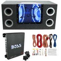 "Pyramid BNPS122 12""1200W Car Audio Subwoofer + Box + 1100W Mono Amp +Wiring Kit"