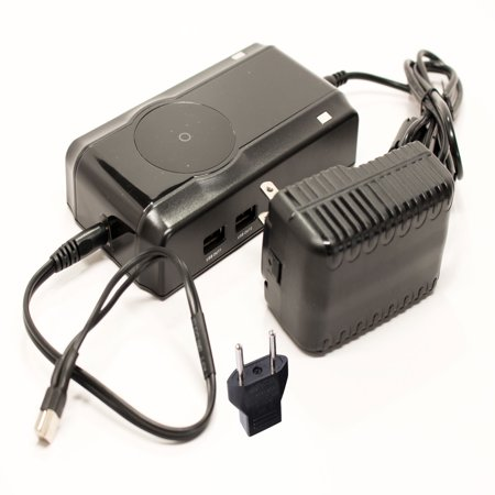 Ryobi 18V Battery Charger Replacement with EU Adapter - Compatible with Ryobi P100, P501, P300, P3200, P230, P700, P600, P530, P510, P250, P221, P521, P200, P240, P310, P400, P420, P500,