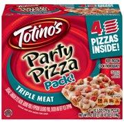Totino's Triple Meat Party Pizza Box 4 - 10.5 oz Pizzas