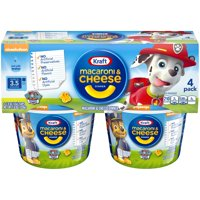 (2 Pack) Kraft Paw Patrol Shapes Macaroni & Cheese Dinner 4-1.9 oz. Microcups