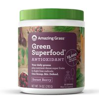 Amazing Grass Antioxidant Green Superfood Powder, Sweet Berry, 30 Servings