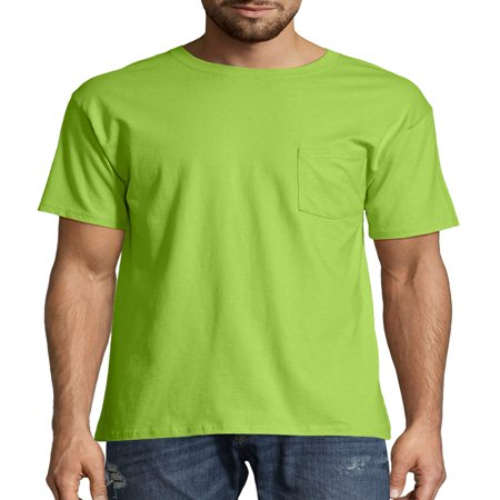 Hanes Big men's tagless short sleeve pocket -