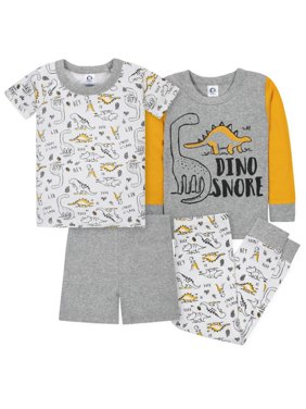 Mix N Match Tight-fit Cotton Pajamas, 4pc (Baby Boys and Toddler Boys)