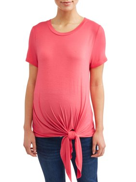 Maternity Short Sleeve Tie Front Tee