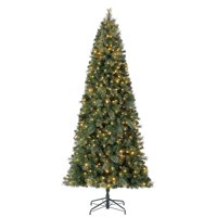 Home Heritage 9' Cascade Cashmere Quick Set Christmas Tree and Changing Lights
