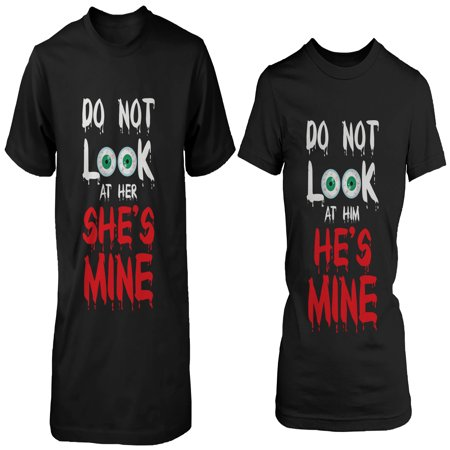 Funny Halloween Couples (Funny Halloween Horror Night Couple Shirts - Do Not Look At)
