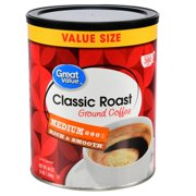 (2 Pack) Great Value Classic Roast Medium Ground Coffee Value Size, 48 oz