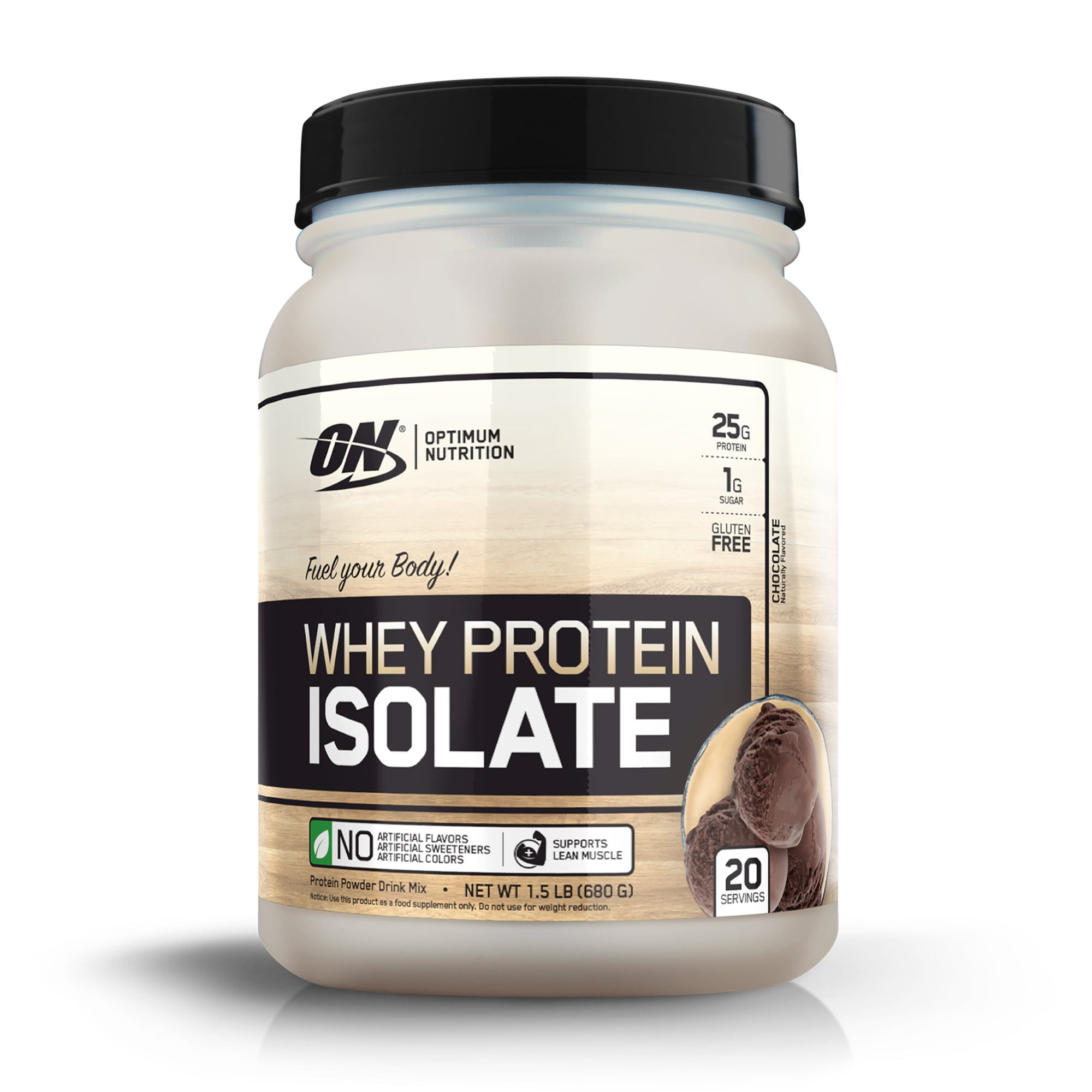Optimum Nutrition Whey Protein Isolate, Chocolate, 25g Protein, 20 Servings