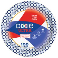 "Dixie Ultra Dinner Size 10"" Paper Plates, 100ct"