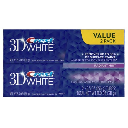 Crest 3D White Radiant Mint Flavor Whitening Toothpaste Twin Pack 11 -
