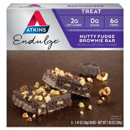 Atkins Endulge Nutty Fudge Brownie, 1.4oz, 5-pack (Treat)