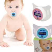 Kids Pacifier thermometer measures oral temperature,Blue