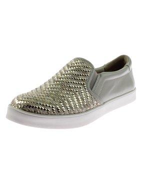 Dr. Scholl's Womens Scout Weave Metallic Woven Fashion Sneakers
