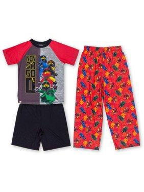 Boys' Lego Ninjago 3 Pajama Sleep Set (Little Boy & Big Boy)