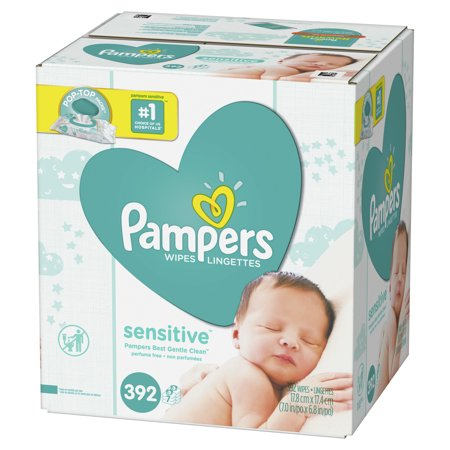 Add FREE Pampers Sensitive Wipes