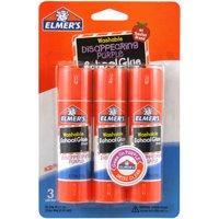 (2 Pack) Elmer's Washable School Glue Stick - Purple 3/Pkg .77oz