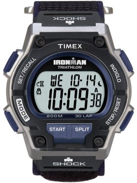 Men's Ironman Endure 30 Shock Full-Size Watch, Black Fast Wrap Strap