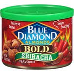 (3 Pack) Blue Diamond Bold Sriracha Flavored Almonds 6 oz. Canister
