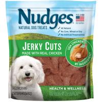 Nudges Health and Wellness Chicken Jerky Dog Treats, 36 oz.