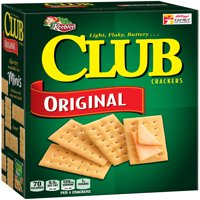 Keebler Club Light Flaky Butter Original Snack Crackers, 13.7 Oz.